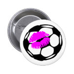 Soccer Ball (Kiss) Pin