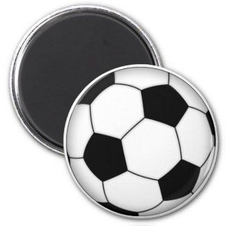 Soccer ball fridge magnet