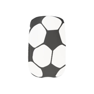 Soccer ball nails minx nail art