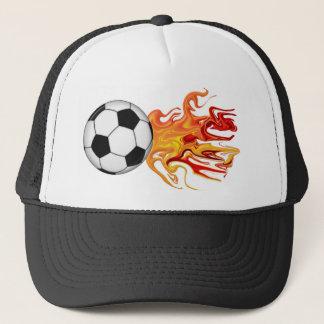 Soccer Ball of Fire Trucker Hat
