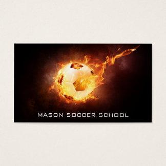 Soccer Ball on Fire - Football Coach Business Card