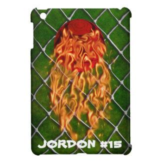 Soccer ball on fire iPad mini cover