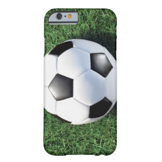 Soccer ball on green grass, close-up barely there iPhone 6 case