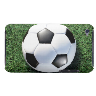 Soccer ball on green grass, close-up barely there iPod cover