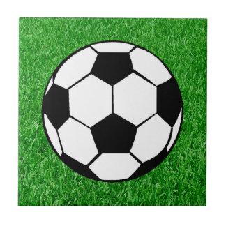 Soccer Ball On Lawn Tile