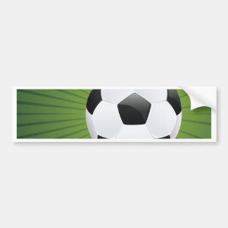 Soccer Ball on Rays Background2 Bumper Sticker