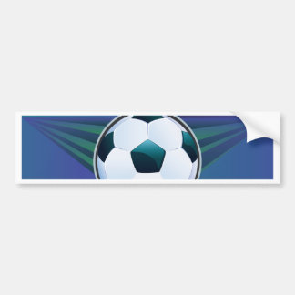 Soccer Ball on Rays Background Bumper Sticker