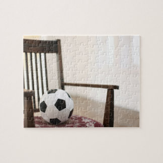 Soccer ball on the chair puzzle