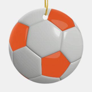 Soccer Ball | Orange Christmas Ornament