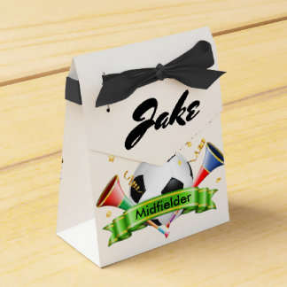 Soccer Ball, Party Horns and Monogram Favour Box