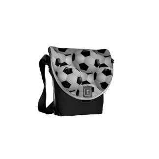 Soccer Ball Pattern Messenger Bag