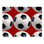 Soccer Ball Pattern on Red