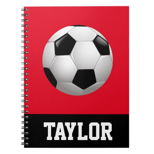 Soccer Ball Personalised Notebooks