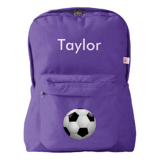 Soccer Ball Personalized Backpack