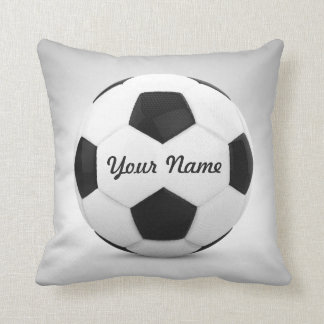 Soccer Ball Personalized Name Cushion