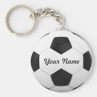 Soccer Ball Personalized Name Key Ring