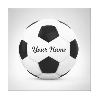Soccer Ball Personalized Name Sport Canvas Print