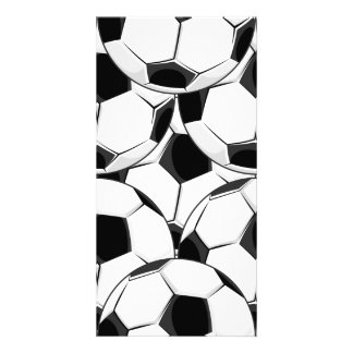 Soccer Ball Pile Pattern Photo Card Template