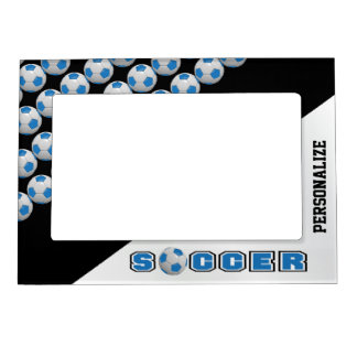 Soccer Ball Player | Blue Magnetic Frame