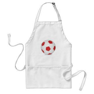 Soccer ball red standard apron