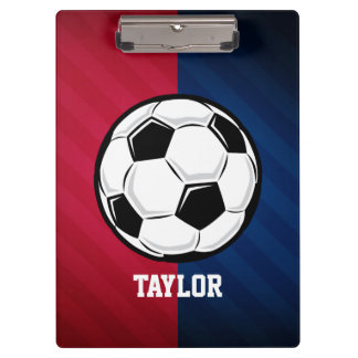 Soccer Ball; Red, White, and Blue Clipboard
