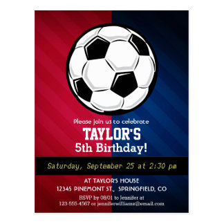 Soccer Ball; Red, White, and Blue Postcard