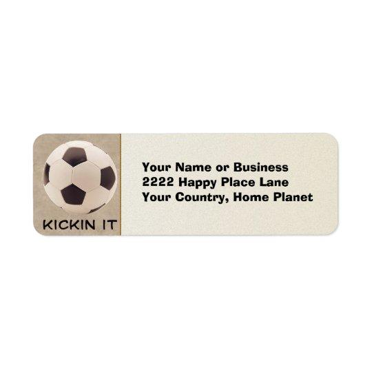 Soccer Ball Return Address Label