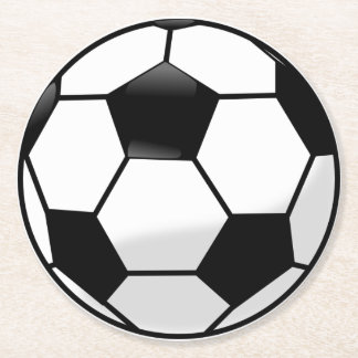 Soccer Ball Round Paper Coaster