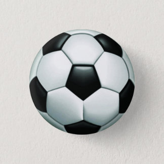 Soccer Ball Round Pinback Button