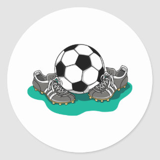 Soccer Ball Shoes Classic Round Sticker
