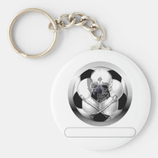 Soccer Ball Skull and Crossbones Key Ring