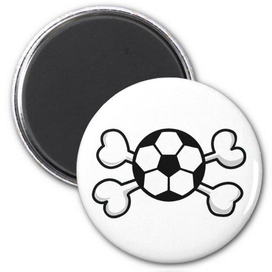 soccer ball Skull and Crossbones Magnet