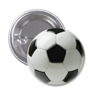 Soccer Ball Small, 1¼ Inch Round Button