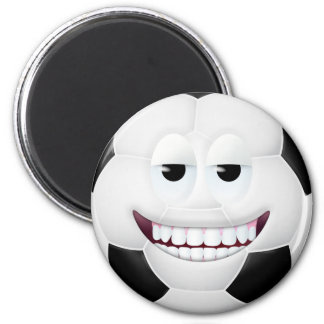 Soccer Ball Smiley Face 2 6 Cm Round Magnet
