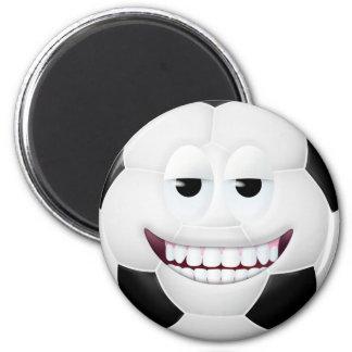 Soccer Ball Smiley Face 2 Magnet
