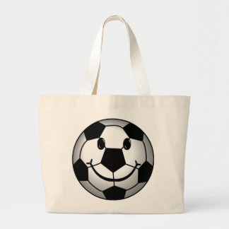 Soccer Ball Smiley Face Tote Bags
