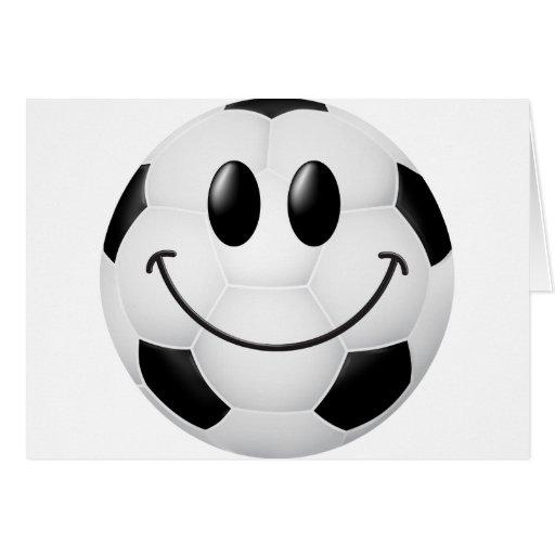 Soccer Ball Smiley Face Card