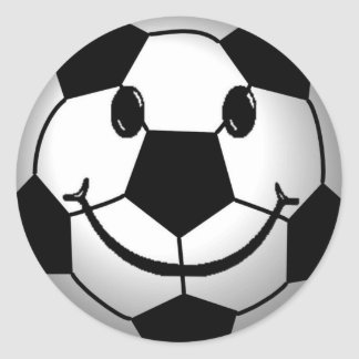Soccer Ball Smiley Face Sticker
