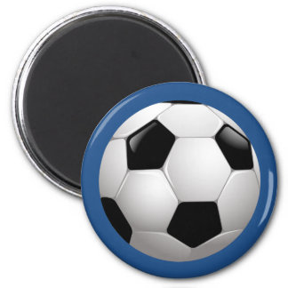 Soccer Ball Sports 6 Cm Round Magnet