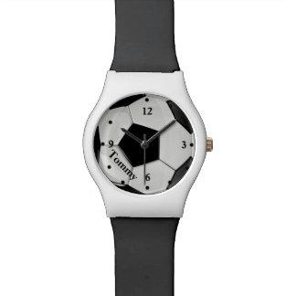 Soccer Ball Sports Custom Watch