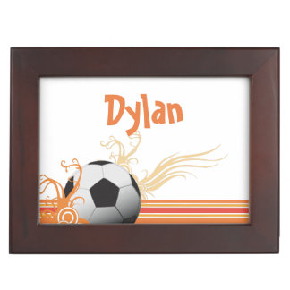 Soccer Ball Sports Game Personalized Name Keepsake Box