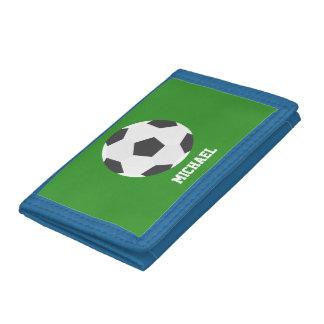 Soccer Ball Sports-Themed Kids Tri-fold Wallets
