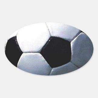 Soccer Ball Oval Sticker