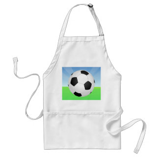 Soccer Ball Sunny Day Adult Apron