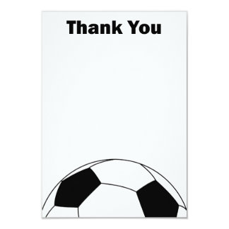 Soccer ball Thank you note cards 9 Cm X 13 Cm Invitation Card