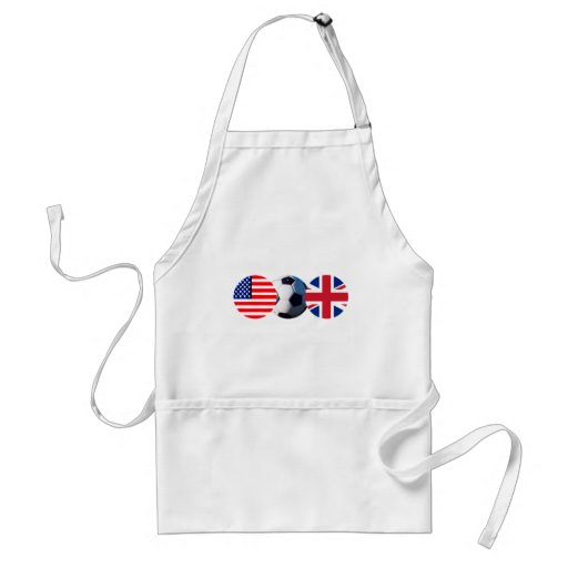 Soccer Ball UK & USA Flags The MUSEUM Zazzle Aprons