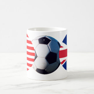 Soccer Ball UK & USA Flags The MUSEUM Zazzle Basic White Mug
