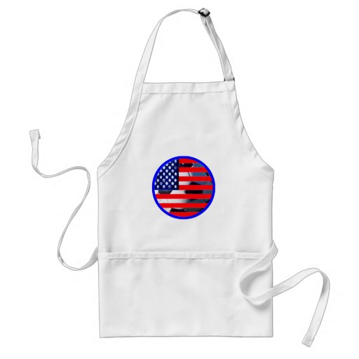 Soccer Ball & USA Flag2 The MUSEUM Zazzle Blue-C Aprons