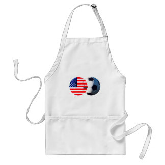 Soccer Ball & USA Flag The MUSEUM Zazzle Aprons