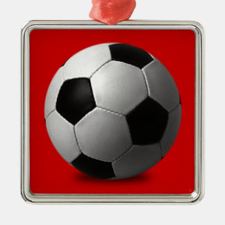 SOCCER BALL VECTOR ICON GRAPHICS BLACK WHITE SPORT CHRISTMAS ORNAMENT